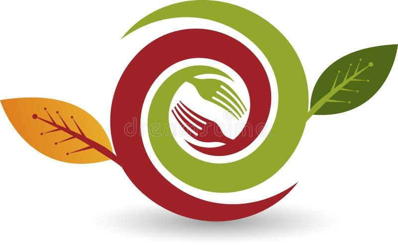 Eco jedzenia logo ilustracji