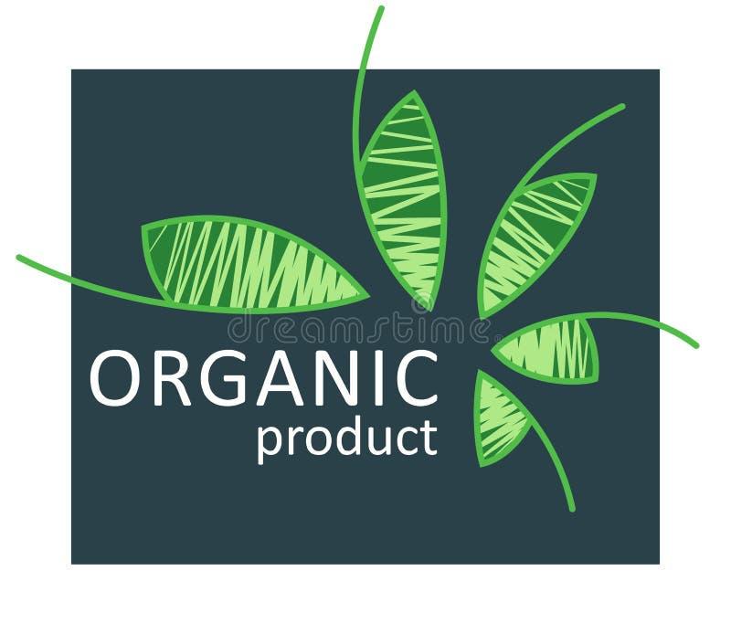Eco karmowy logo, organicznie życiorys produktu simbol, eco życzliwy, weganin ikony, ekologii odznaki ilustracja wektor