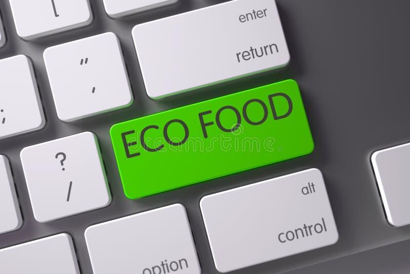 Eco Karmowy zbliżenie klawiatura 3d fotografia royalty free