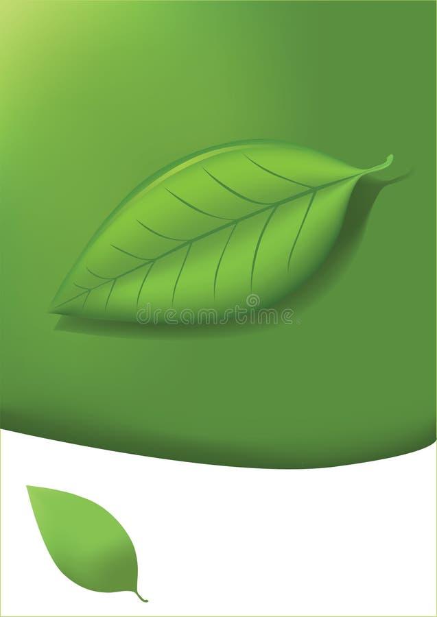 Eco Kartenvektor lizenzfreie abbildung
