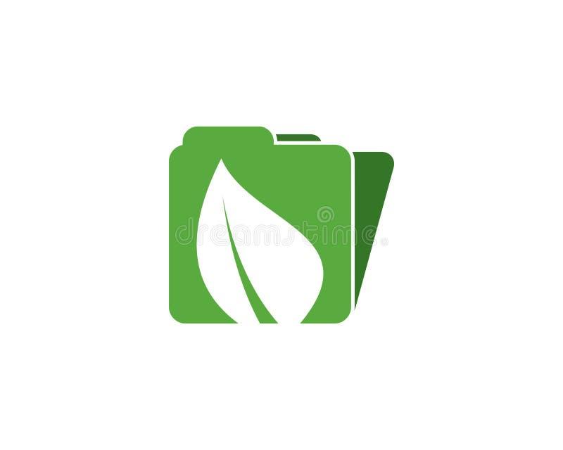 Eco kartoteki logo royalty ilustracja