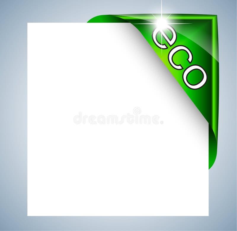 Eco Kennsatz-Marke für Foto oder die Bild-Gestaltung lizenzfreie abbildung