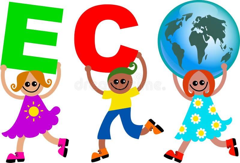 Eco kids stock illustration
