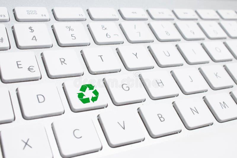 ECO klawiatura, Zielony przetwarza pojęcie zdjęcie stock