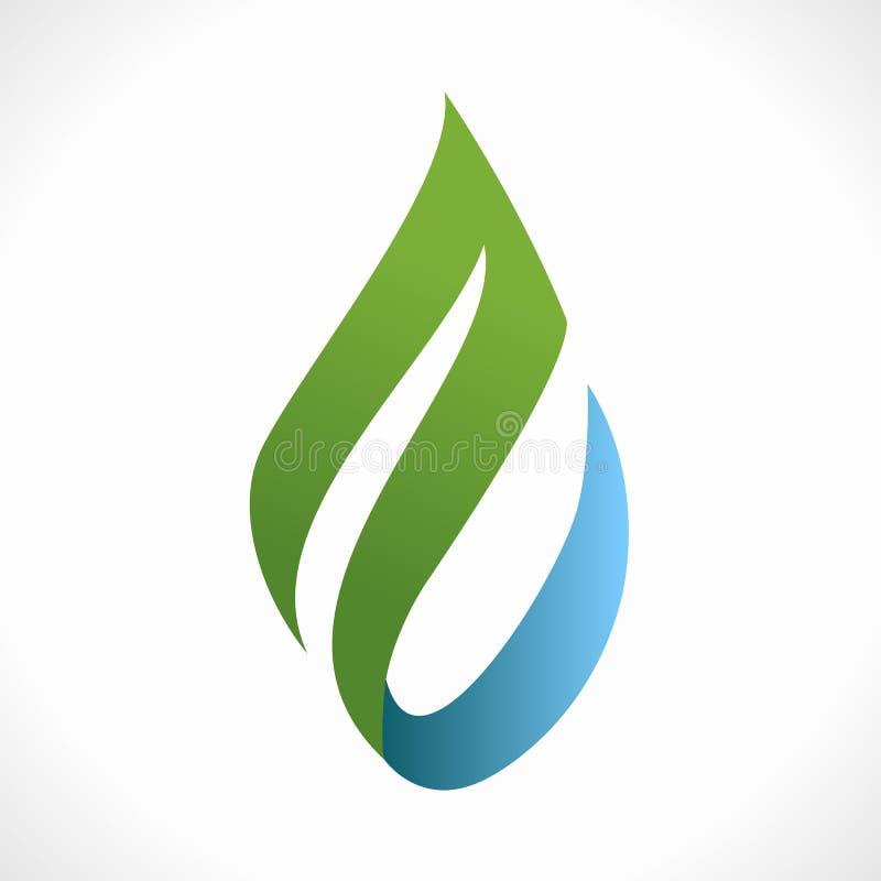 Eco klick stock illustrationer