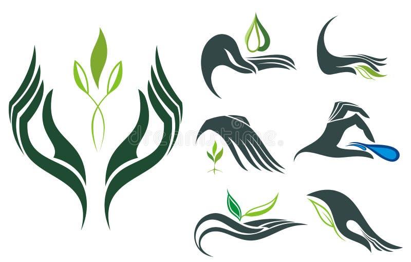 Eco kolekcja royalty ilustracja