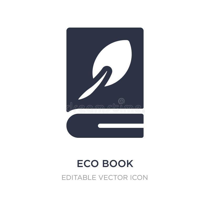 eco książkowa ikona na białym tle Prosta element ilustracja od edukacji pojęcia ilustracji