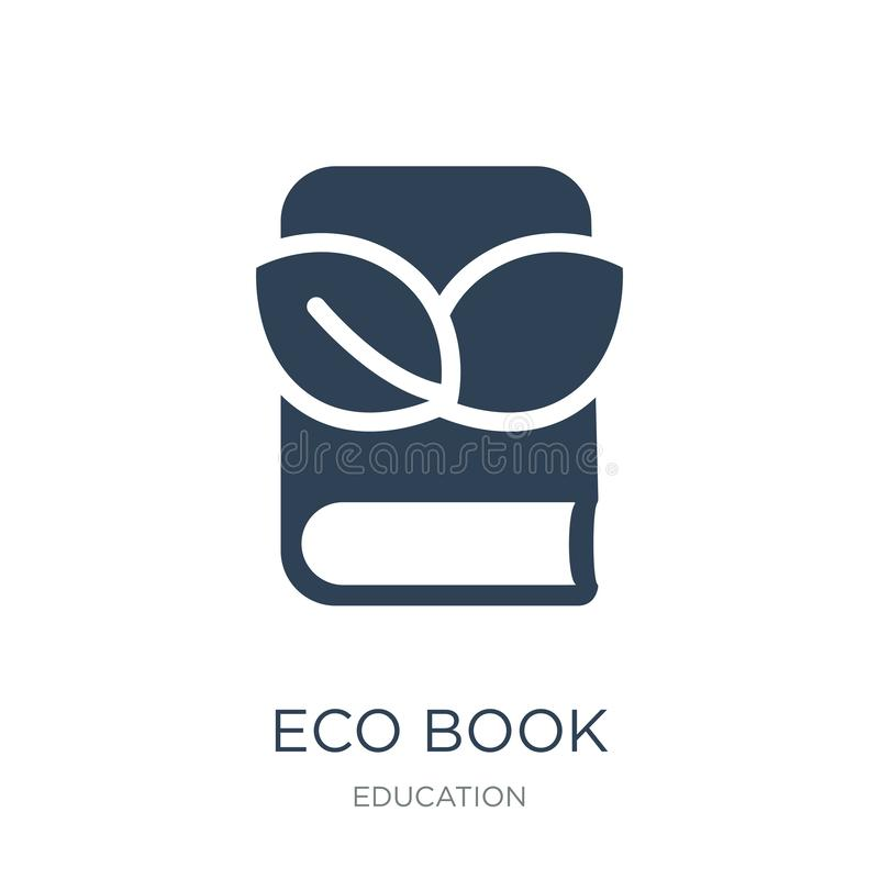 eco książkowa ikona w modnym projekta stylu eco książkowa ikona odizolowywająca na białym tle eco książkowej wektorowej ikony pro ilustracji