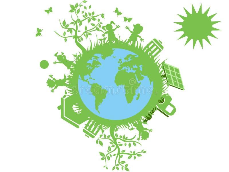 eco kuli ziemskiej zieleń ilustracja wektor