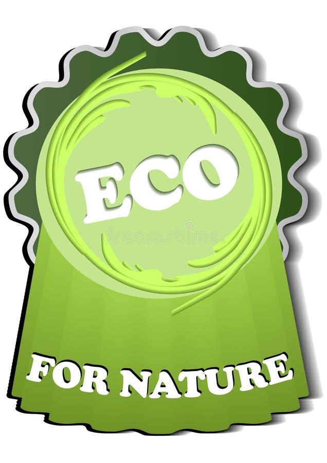 Eco-label voor rekupereerbare materialen stock illustratie