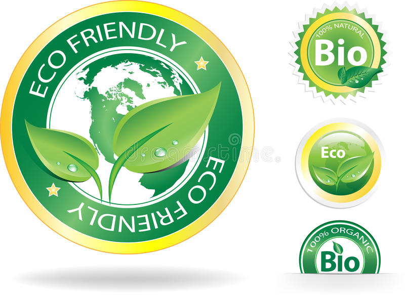 Eco Labels stock illustration