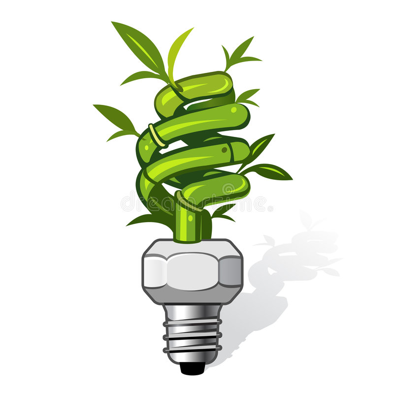 Eco lamp. Vector illustration of an ecological lamp. Can be used for eco related concepts. PATH included royalty free illustration