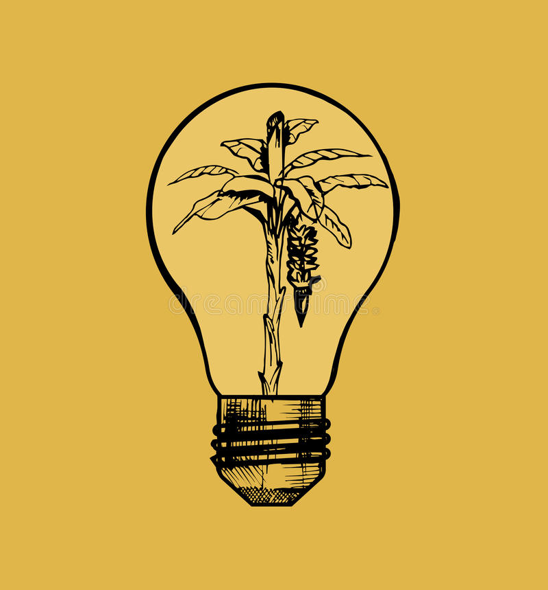 Eco lampa vektor illustrationer