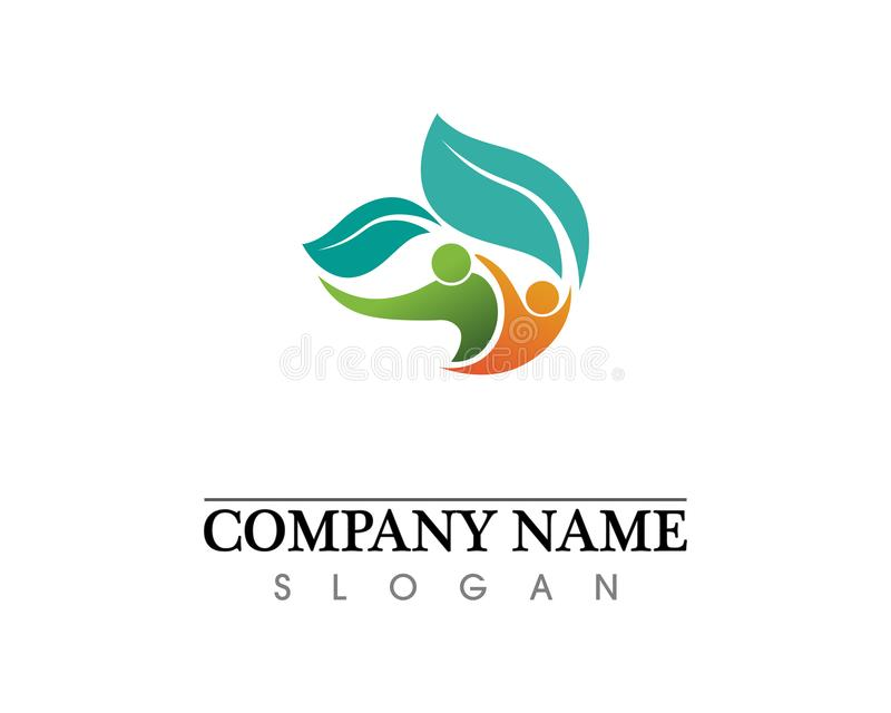 Eco, leaf, athletic, balance, body, brand, care, club, creative. Prayer, rehab, relaxation, adoption, silhouette, sport, symbol, therapy, train, training, yang stock photography