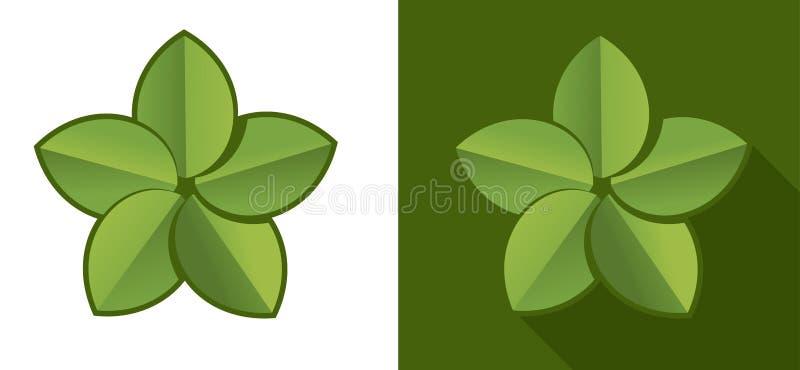 Eco leaf vector illustration