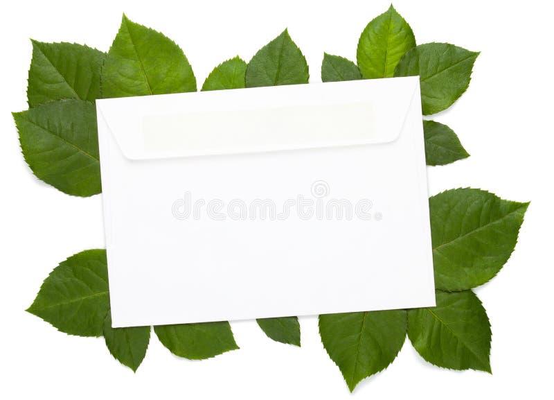 Eco letter on white stock photo