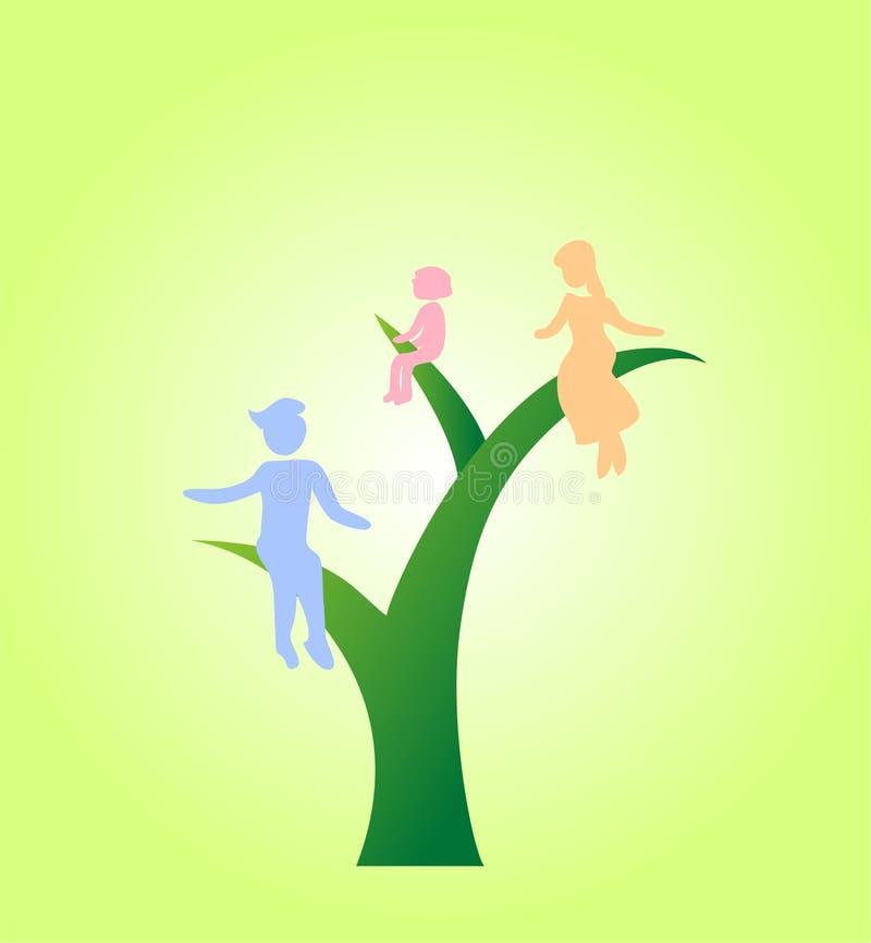 Eco life family I royalty free stock image