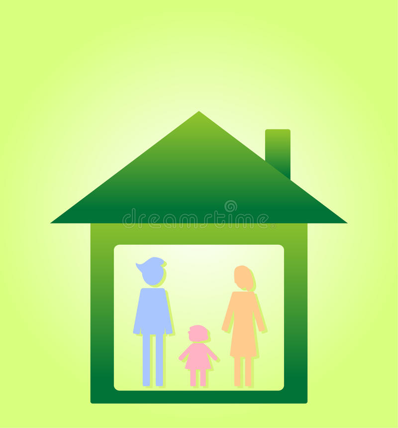 Eco life family II royalty free stock photography