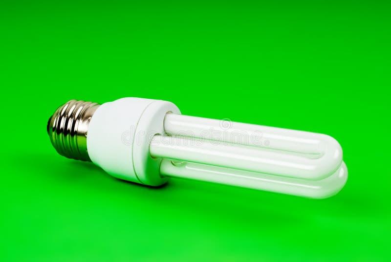 Eco light bulb on green