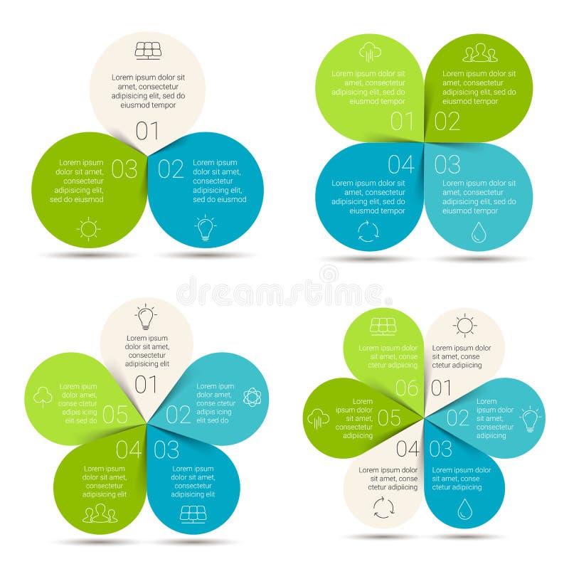 Eco linear do círculo do vetor infographic Ecologia ilustração royalty free