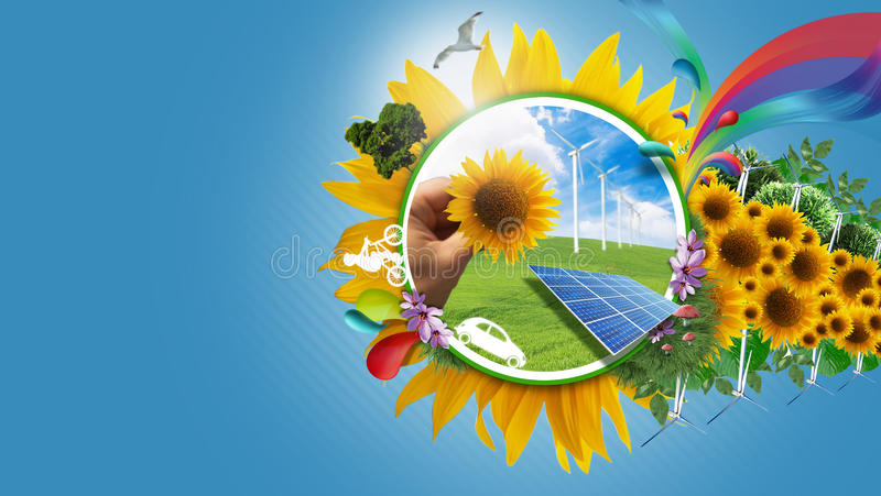 Eco living stock illustration