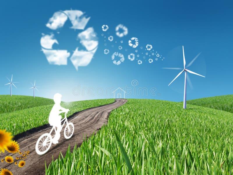 Download Eco living stock illustration. Illustration of wind, blue - 18675349