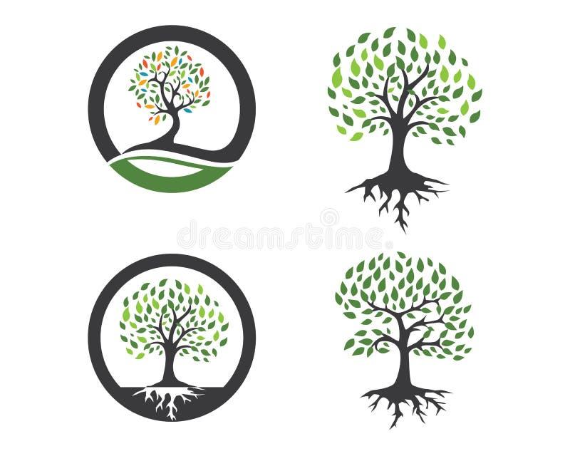 Eco loga Drzewny szablon ilustracja wektor