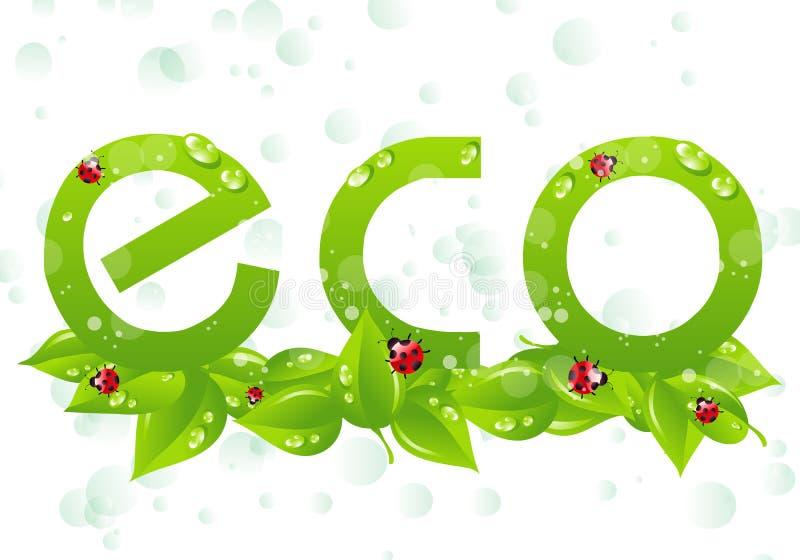 Eco logo royalty ilustracja