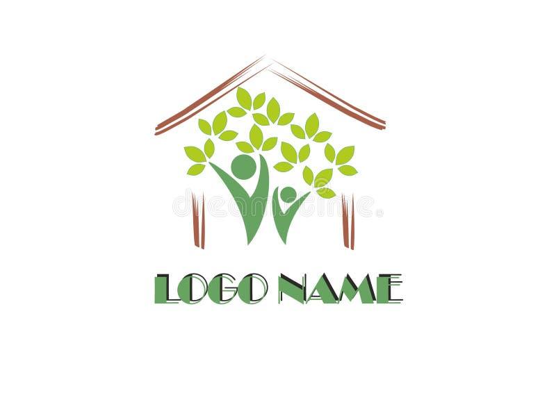 Eco logo royalty free stock photography