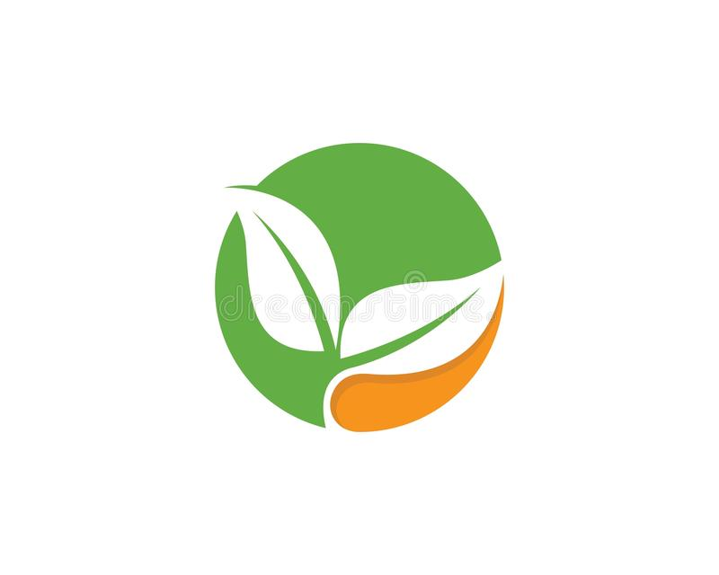 Eco logo template vector icon royalty free illustration