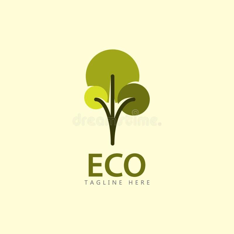 Eco Logo Vector Template Design Illustration lizenzfreie abbildung