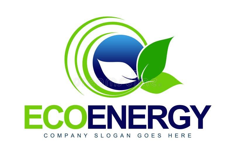 Eco logoLeaf royaltyfri illustrationer