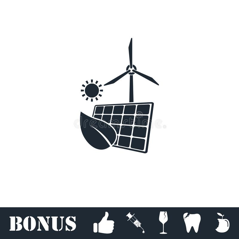 Eco maktsymbol framl?nges vektor illustrationer