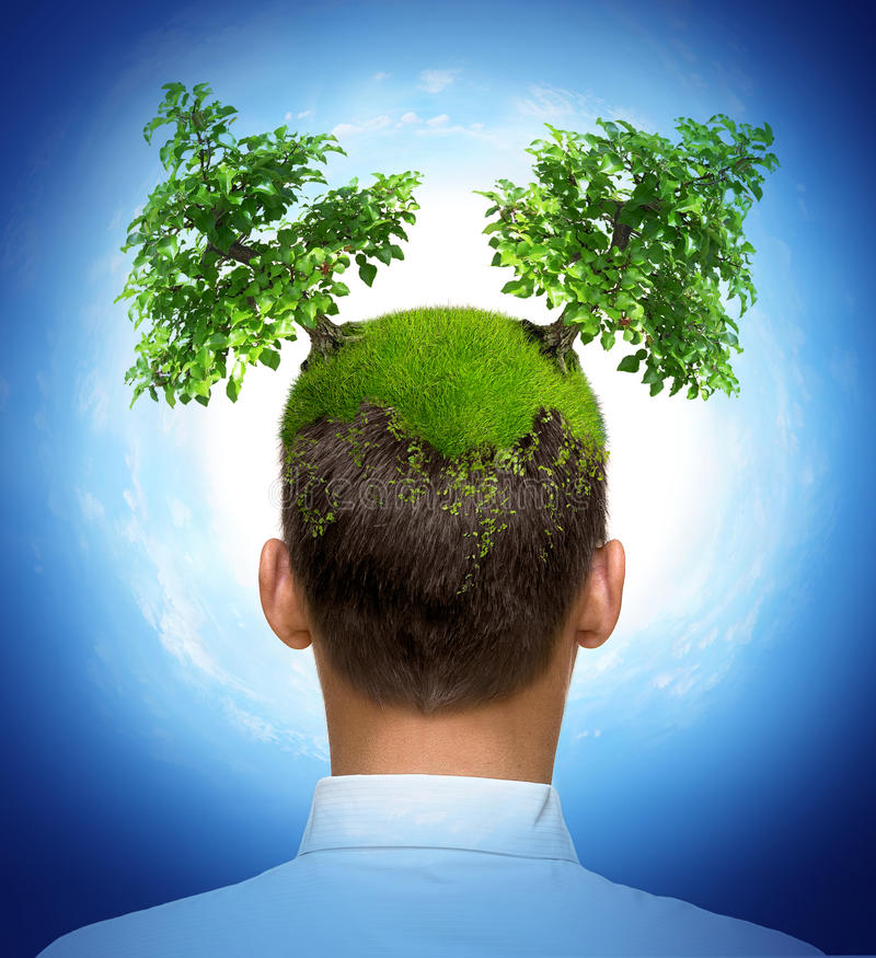Download Eco man stock illustration. Image of cute, concept, growing - 10846024