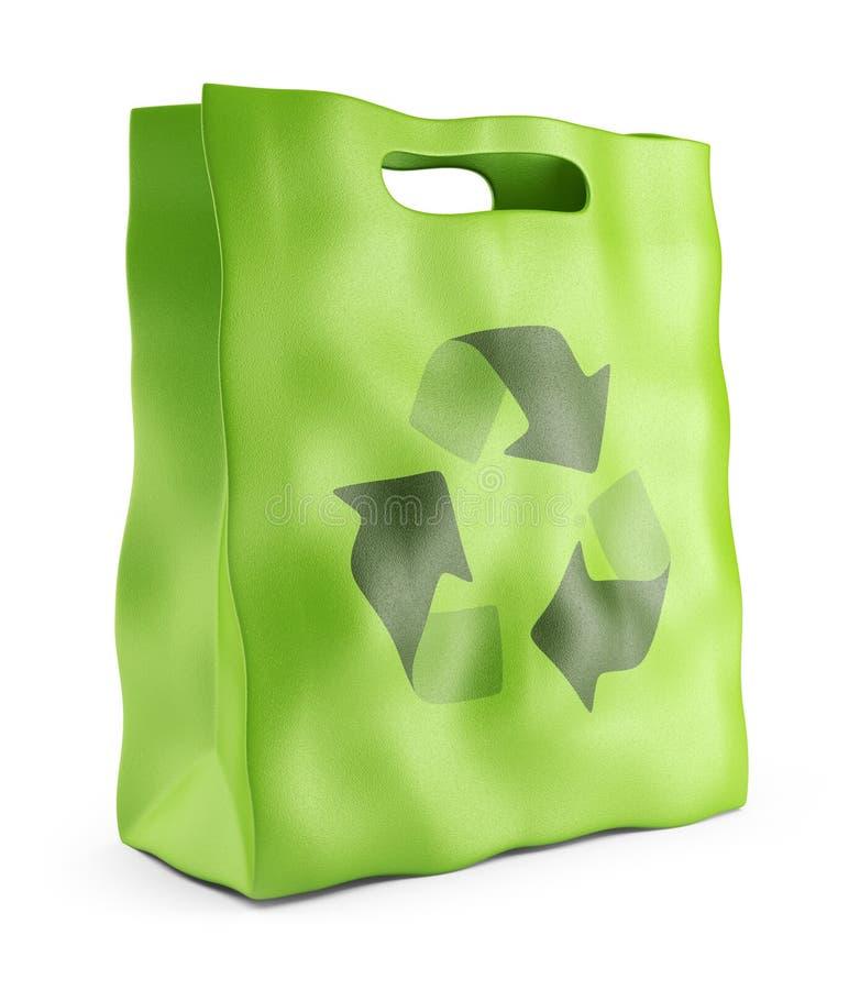 Eco marknadspåse. Miljövårdbegrepp 3D royaltyfri illustrationer