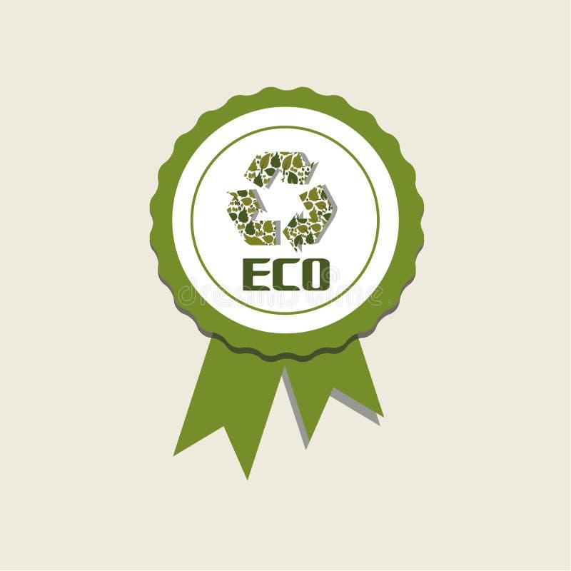 Eco-Medaille Stockbild