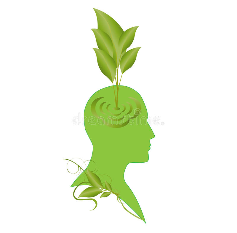Eco mind stock image