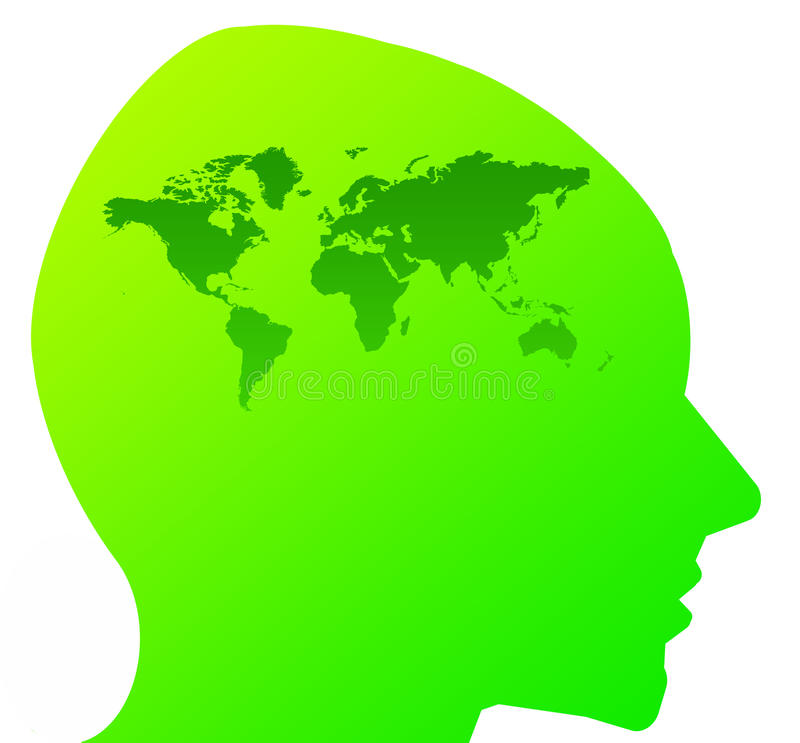 Download Eco mind stock illustration. Image of future, head, brains - 17952599