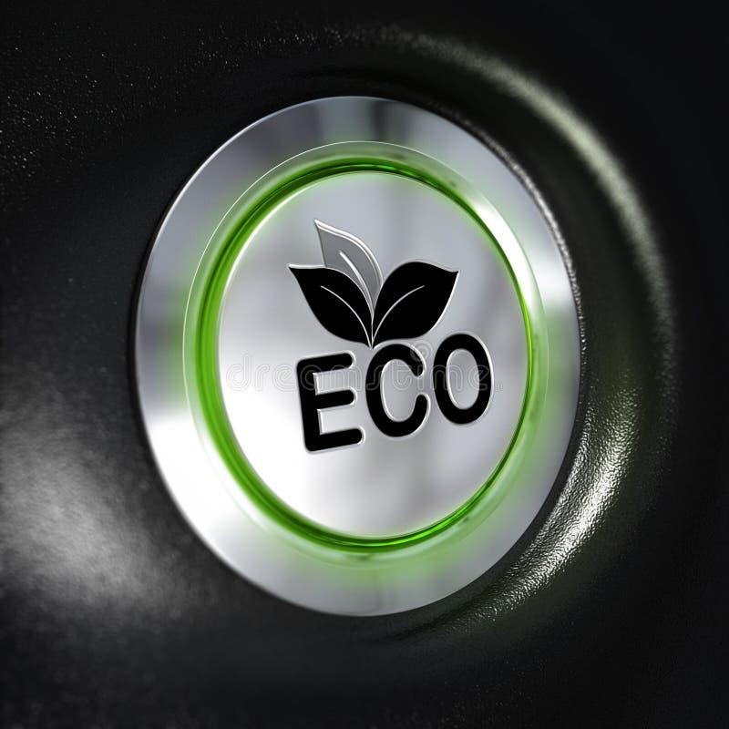 Eco Mode Button, Energy Saving royalty free illustration