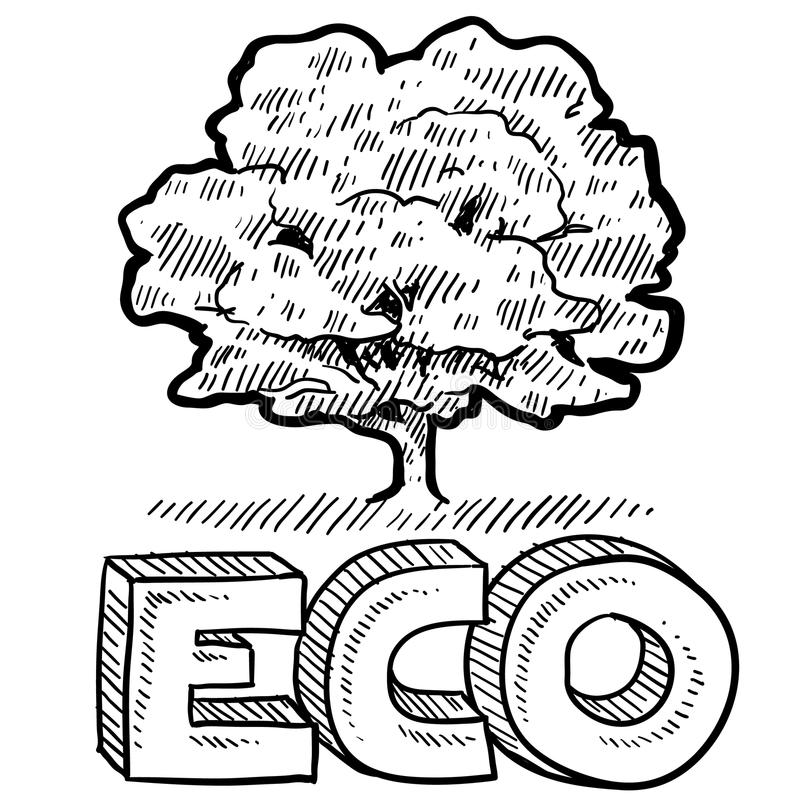 Eco or nature emblem royalty free illustration