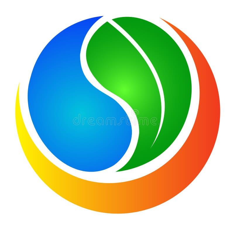Eco nature logo. Illustration of ecology logo design isolated on white background vector illustration