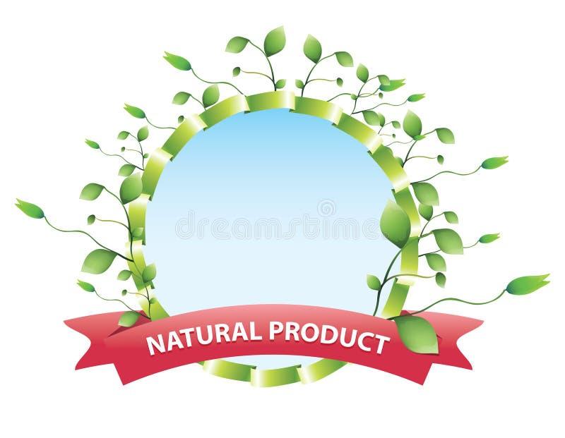 Eco odznaka royalty ilustracja