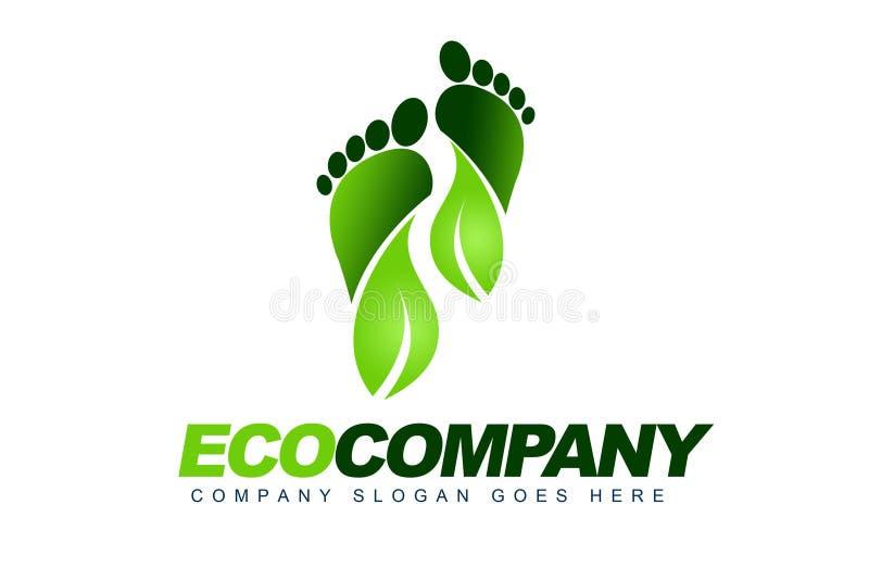 Eco Opuszczać Loga royalty ilustracja