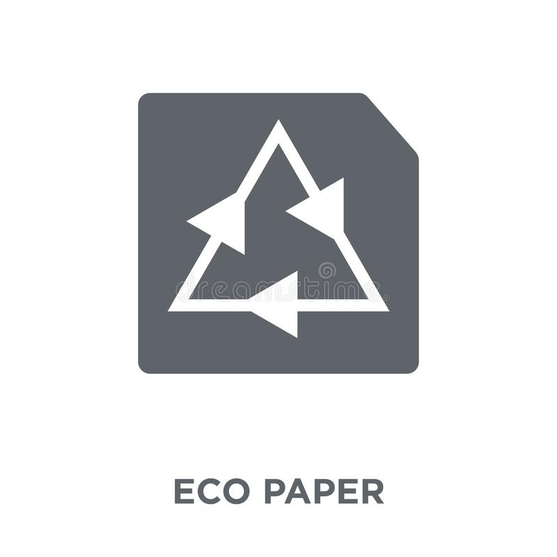 eco Paper icon from Ecology collection. stock illustration
