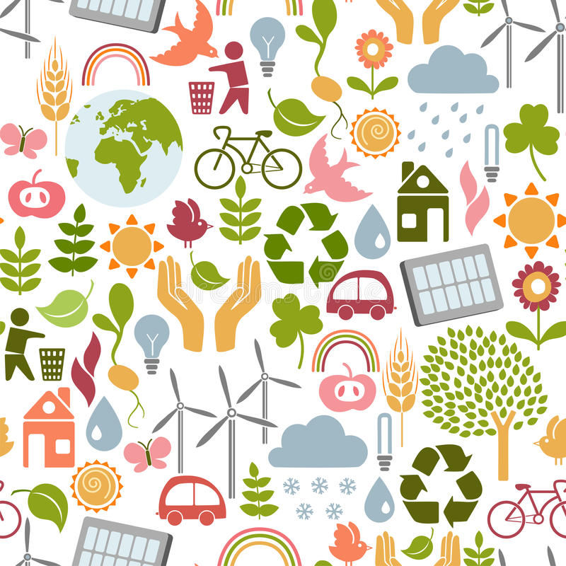Download Eco pattern stock vector. Illustration of earth, nature - 23722051