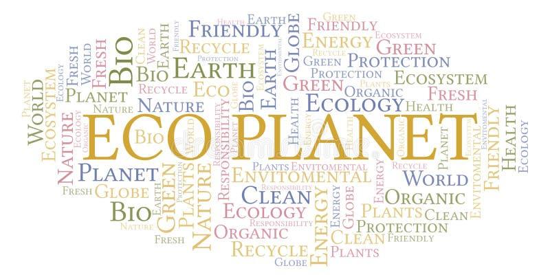 Eco-Planeten-Wortwolke lizenzfreie abbildung