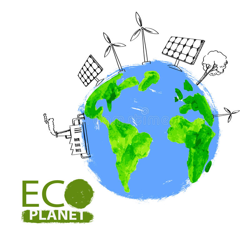 Eco pojęcia planeta royalty ilustracja