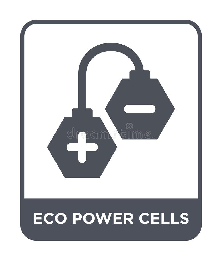 eco power cells icon in trendy design style. eco power cells icon isolated on white background. eco power cells vector icon simple royalty free illustration