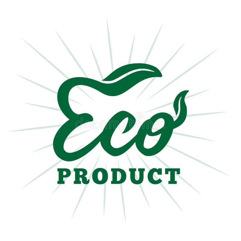 Eco product design template. Vector and illustration. Eco product design template. Eco product lettering design. Decorative inscription. Eco product vector and royalty free illustration