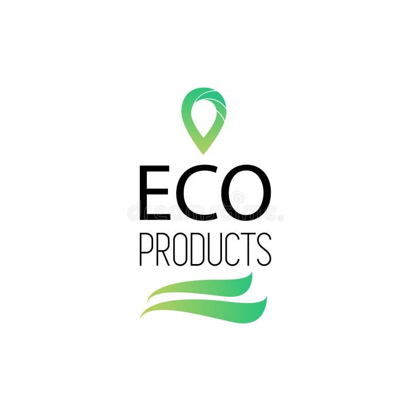 Eco produktów logo również zwrócić corel ilustracji wektora Naturalny, organicznie logotyp, ilustracji